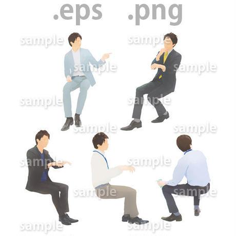 ビジネス人物イラスト (EPS , PNG )   bu_020