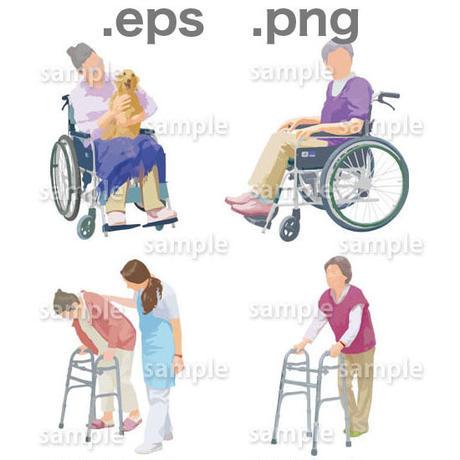 シニアイラスト (EPS , PNG )   se_007