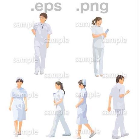 医療スタッフイラスト (EPS , PNG )   se_269