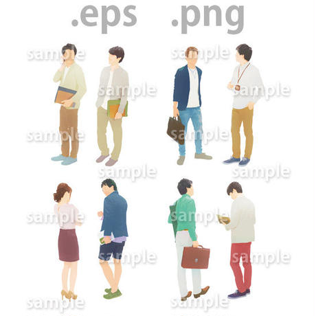 ビジネス人物イラスト (EPS , PNG )   bu_009