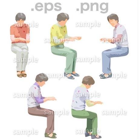 シニアイラスト (EPS , PNG )   se_169