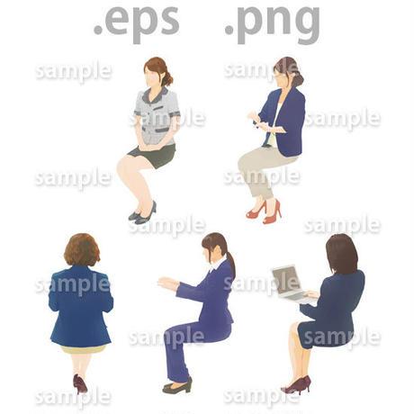 ビジネス人物イラスト (EPS , PNG )   bu_021