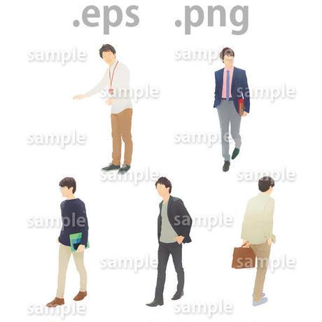 ビジネス人物イラスト (EPS , PNG )   bu_015