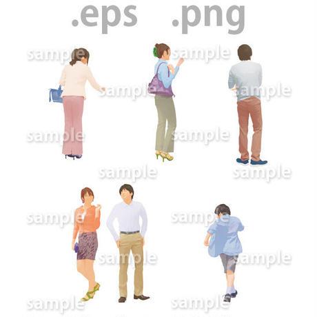 ファミリーイラスト (EPS , PNG )   fa_011