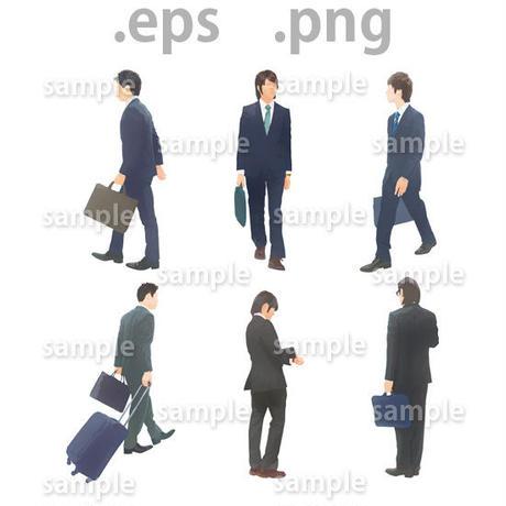 ビジネス人物イラスト (EPS , PNG )   bu_011
