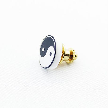 【PIRKACUP】怪談社コラボ 陰陽ロゴピンバッジ IP-P01