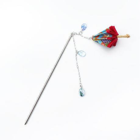 【牛抱せん夏】一本かんざし「 雨 」 IU-HK02