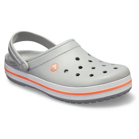 【crocs/サンダル】crocs/クロックス/CrocbandClog/クロックバンド クロッグ(Light Grey / Bright Coral)【11016-OFL】