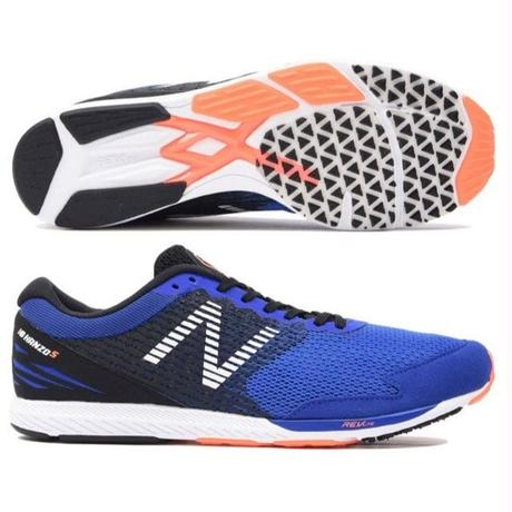 【ランニングシューズ】new balance/ニューバランス/NB HANZO S M B2(BLUE/ORANGE)【MHANZSB2】