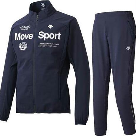 【DESCENTE/クロス上下セット】 デサント/Move Sport/グリッド クロスジャケット・ロングパンツ(ネイビー) 【DMMMJF16-DMMMJG16-NV】