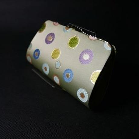 全正絹 西陣織 金襴 水玉紋様 クラッチバッグA
