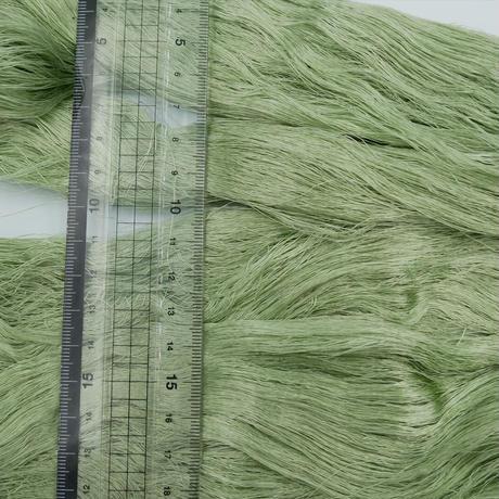 西陣織で使われている絹糸 綛糸(かせいと)21中4片 薄グリーン