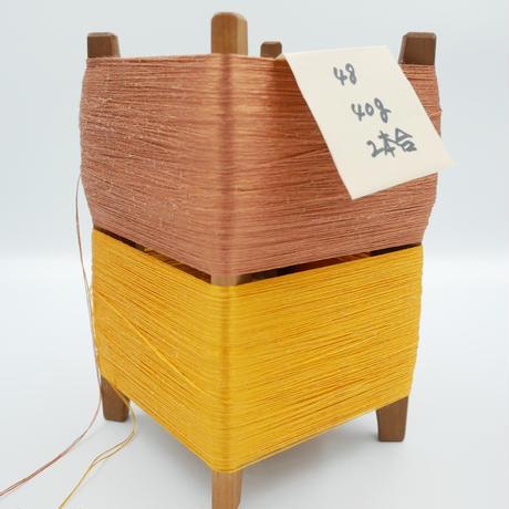国産絹糸 江州だるま糸 西陣織で使われている手機用緯糸 木枠付き no.48