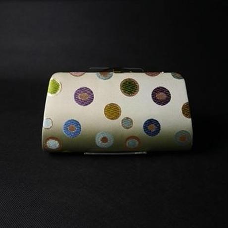全正絹 西陣織 金襴 水玉紋様 クラッチバッグB