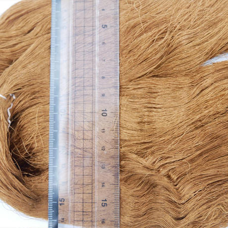 西陣織で使われている絹糸 綛糸(かせいと)21中4片 茶