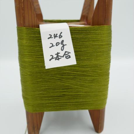 国産絹糸 江州だるま糸 西陣織で使われている手機用緯糸 木枠付き no.246