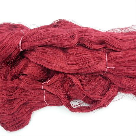 西陣織で使われている絹糸 綛糸(かせいと)21中4片 紫