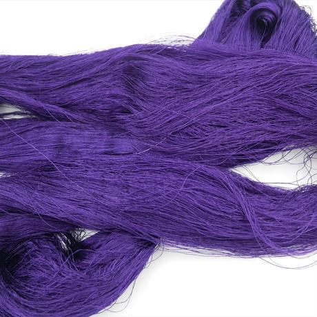 西陣織で使われている絹糸 綛糸(かせいと)21中4片 濃紫