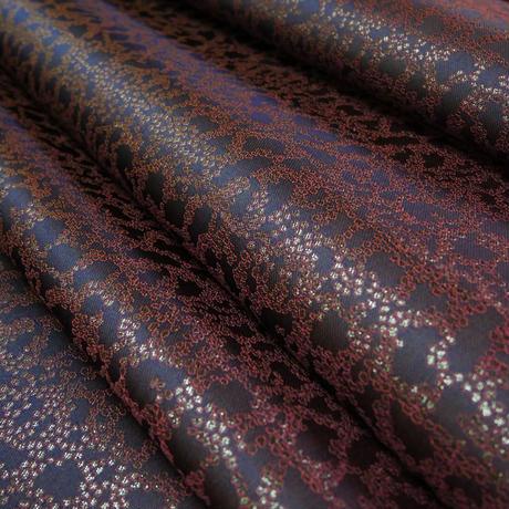 Lサイズ! 西陣織 金襴 絹織物 マスク 紺地 Cell紋様 B