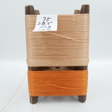 国産絹糸 江州だるま糸 西陣織で使われている手機用緯糸 木枠付き no.75