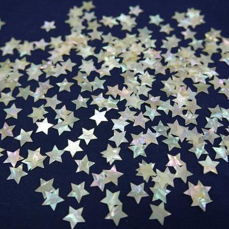 螺鈿箔 星型のくり貫き加工