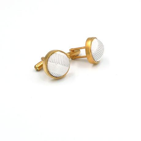 〈尊 MICOTO〉 カフスボタン 6 ストライプ紋様 白銀