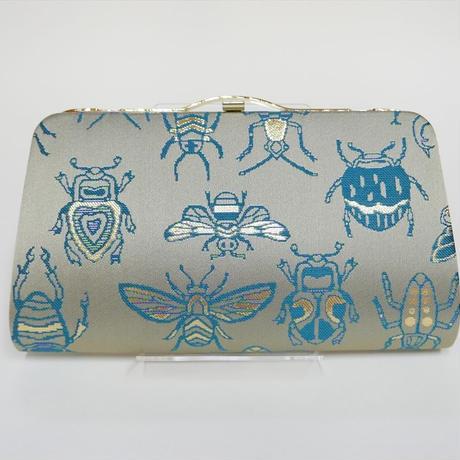全正絹 西陣織 金襴 Insect 虫紋様 クラッチバッグA