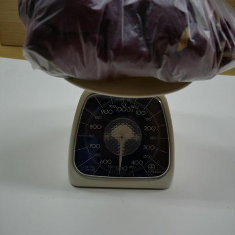 西陣織で使われている 経糸の残糸 紫色、着払発送