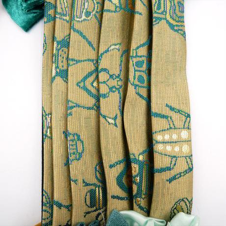 ニシジーナ きらめくゴージャスマスク 白茶地 虫紋様 一点もの 112