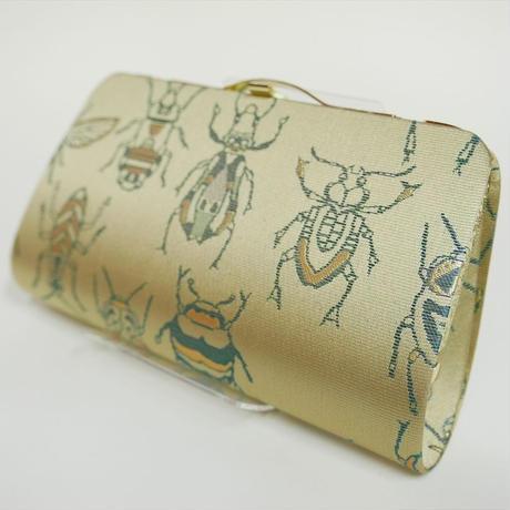 全正絹 西陣織 金襴 Insect 虫紋様 クラッチバッグB