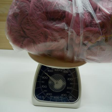西陣織で使われている 経糸の残糸 藤色 着払い発送