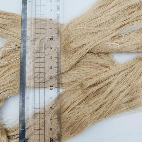 西陣織で使われている絹糸 綛糸(かせいと)21中2片 ベージュ