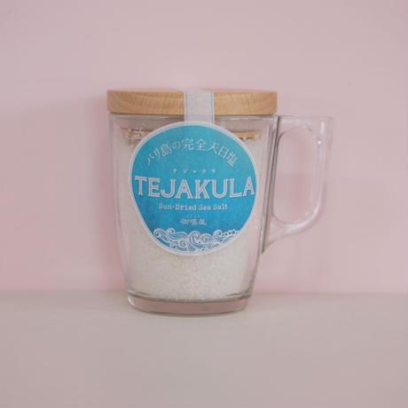 TEJAKULA  バリ島の完全天日塩【粗塩】木蓋マグカップ入り 160g