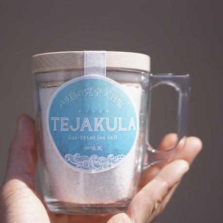 TEJAKULA バリ島の完全天日塩【石臼挽きパウダー】木蓋エコマグ 180g