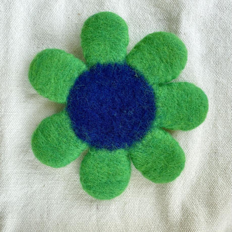Fika*felt お花コースター 緑