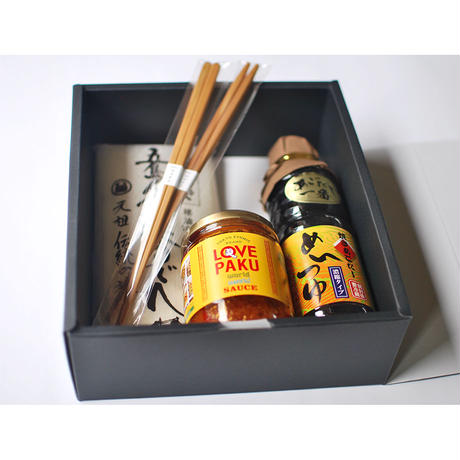 "Summer GiftーGift_002 Udon & Noodle Soup & ""LOVE PAKU"" & Chopsticks"