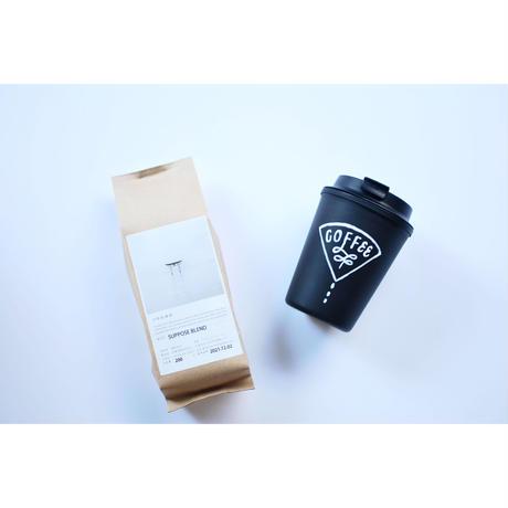 SHASHOKUDO × CHALKBOY コラボ オリジナルタンブラー & オリジナルドリップコーヒー or BREWTEAセット