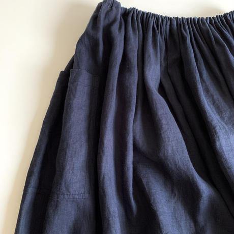 ロングワイドゴムスカート