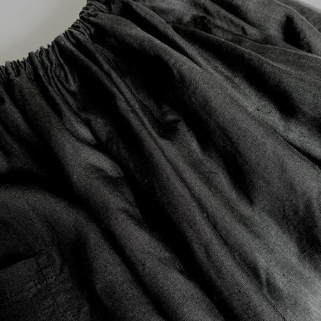 リネンロングワイドゴムスカート