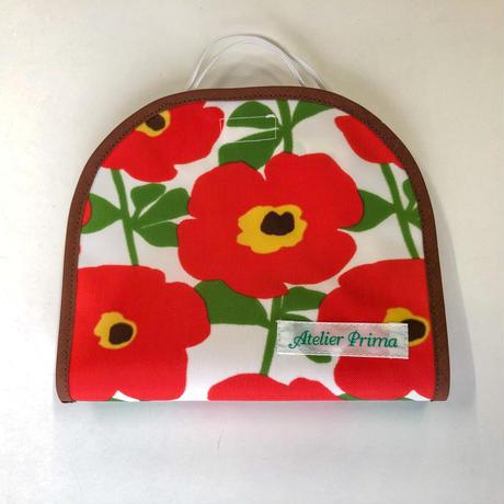 マスクケース 001 ポピー赤花