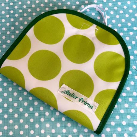 マスクケース005 グリーン水玉