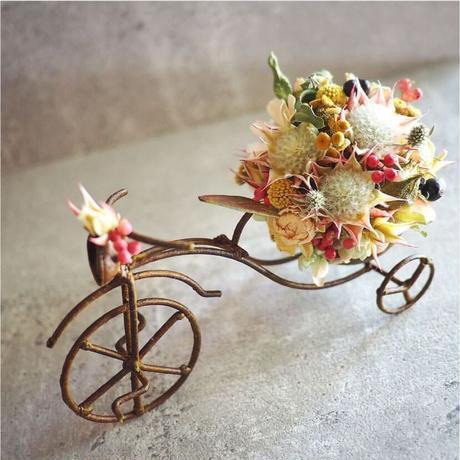 自転車ピンク系アレンジメント♪