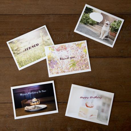 メッセージカード(二つ折り)5種類 3枚セット