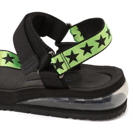 AIR SPORTS SANDAL  W/ STARS / BLACK&NEON GREEN (men's) *2020年6月上旬発送予定