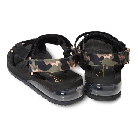 AIR SPORTS SANDAL WITH CAMOUFLAGE / BLACK