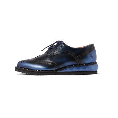 AIR WING TIP SHOES WITH STUDS WELT / BLUE (unisex)