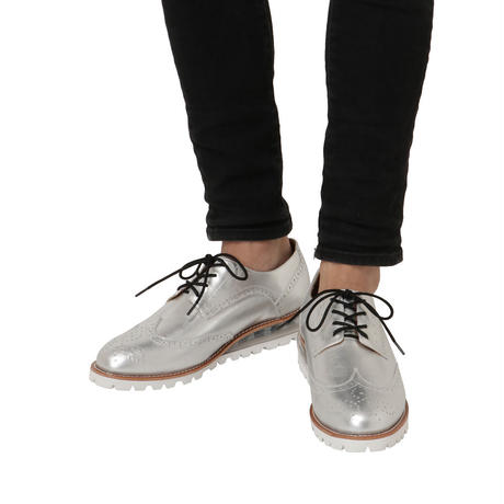 AIR WING TIP SHOES  / SILVER