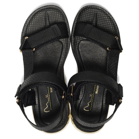 AIR SPORTS SANDAL  / BLACK EMBOSSED SNAKE (men's)