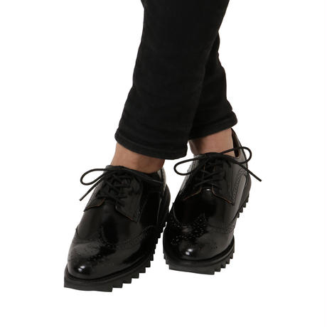 AIR WING TIP SHOES  / BLACK (unisex)
