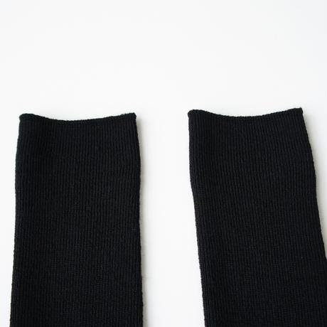 【リニューアル!】アルパカのゴムなししめつけない靴下/ ブラック_SO001-BK